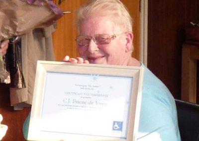15 april 2011 -9- Corrie certificaat